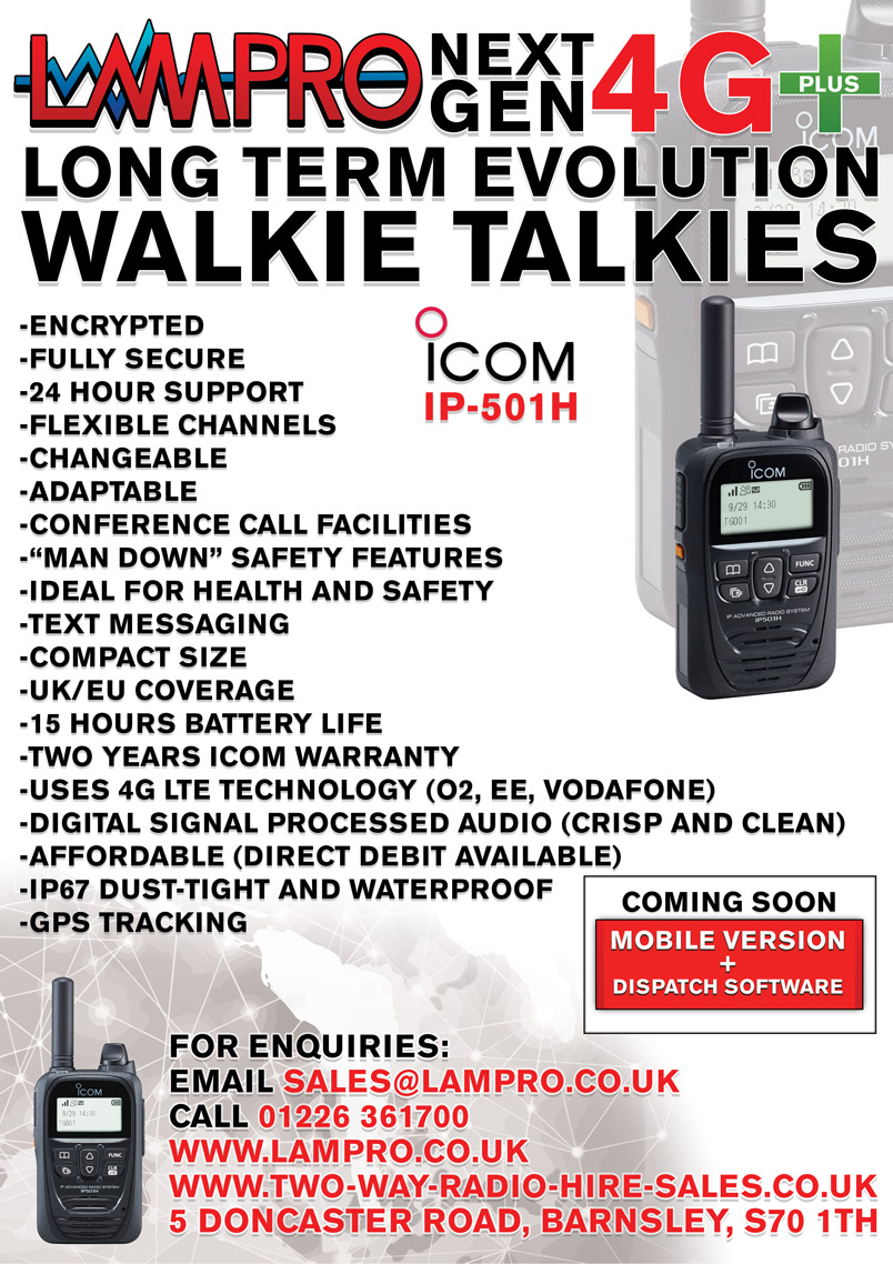 Icom IP-501H LTE walkie talkie